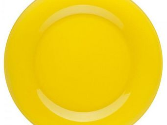 La Chaise Longue - assiette plate en verre jaune - Assiette Plate