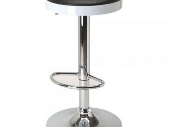 La Chaise Longue - tabouret bar bicolore noir - Tabouret De Bar
