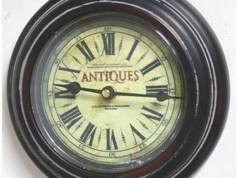 L'HERITIER DU TEMPS - horloge murale ambiance brocante ø21cm - Horloge Murale
