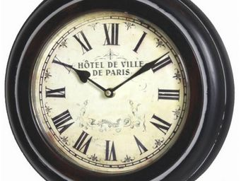 L'HERITIER DU TEMPS - pendule à accrocher brocante ø33cm - Horloge Murale