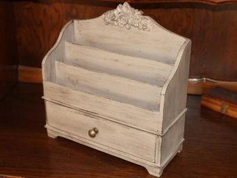 L'HERITIER DU TEMPS - trieur de courrier patin� gris - Trieur � Courrier