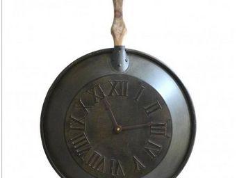 L'HERITIER DU TEMPS - horloge cuisine en fer ø56cm - Horloge Murale