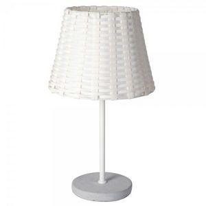 La Chaise Longue - lampe tressée blanche - Lampe À Poser