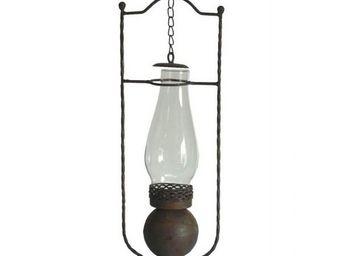 L'HERITIER DU TEMPS - lampe antique en fer - Lanterne D'extérieur