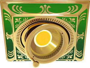 FEDE - smalto italiano siena square collection - Spot De Plafond Encastr�
