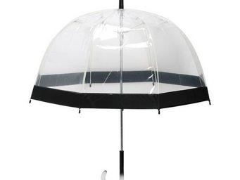 La Chaise Longue - parapluie transparent noir - Parapluie