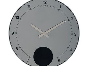 La Chaise Longue - horloge murale disque pendule miroir - Pendule Murale