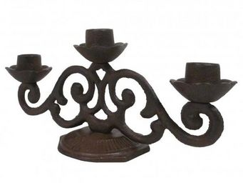 L'HERITIER DU TEMPS - chandelier de table en fonte - Chandelier