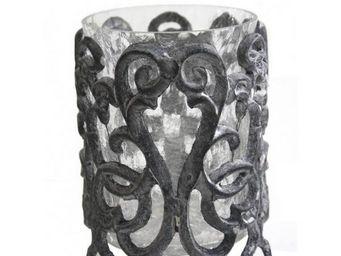 L'HERITIER DU TEMPS - porte bougie en fonte et verre - Photophore