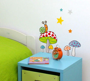 SERIE GOLO - petits champipis - Sticker Décor Adhésif Enfant