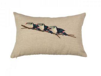 BLANC D'IVOIRE - toucan - Coussin Rectangulaire
