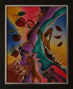 LIGHT MY ART - « le paradis perdu » © par edy s. - Tableau Contemporain