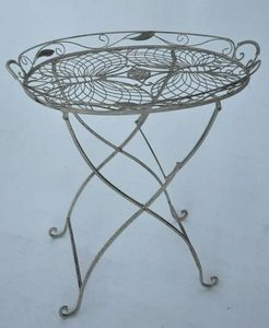 Demeure et Jardin - petite table ovale - Bout De Canapé