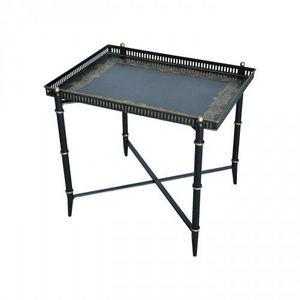 Demeure et Jardin - table basse à galerie - Table Basse Rectangulaire