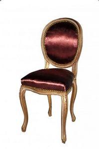 Demeure et Jardin - chaise transition damas rose fonc� - Chaise M�daillon