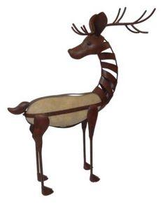 Demeure et Jardin - cerf galet en fer forg� - Sculpture Animali�re