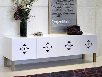 TemaHome - temahome scatola buffet spacieux blanc mat avec po - Buffet Bas