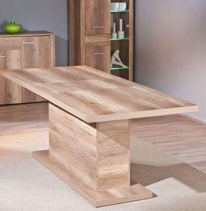 WHITE LABEL - table repas extensible absoluto en bois chene - Table De Repas Rectangulaire