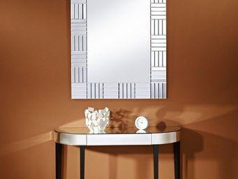WHITE LABEL - strummer ensemble console et miroir - Console
