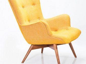 WHITE LABEL - fauteuil angel jaune. - Fauteuil