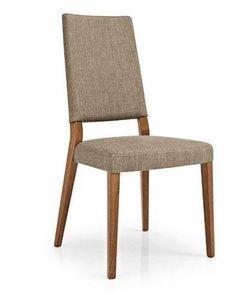 Calligaris - chaise sandy en hêtre et tissu coloris corde de ca - Chaise