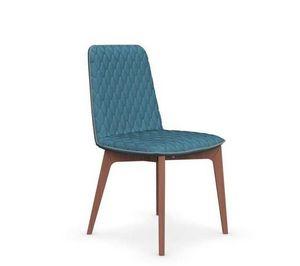 Calligaris - chaise sami en hêtre et tissu couleur aigue marine - Chaise
