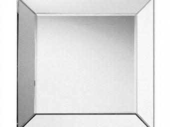 WHITE LABEL - keops miroir mural design modèle carré - Miroir