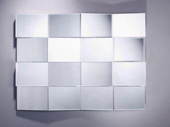 WHITE LABEL - meddle miroir mural en verre - Miroir
