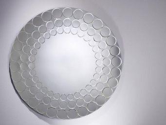 WHITE LABEL - quantique miroir mural en verre - Miroir Hublot