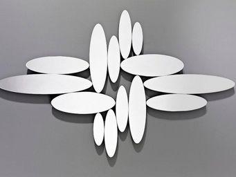 WHITE LABEL - yonaguni miroirs ovales en verre biseauté - Miroir