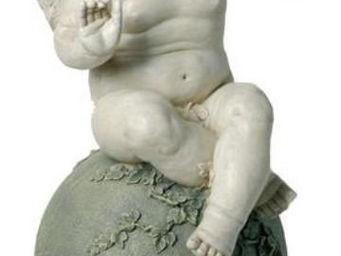 Antic Line Creations - statuette ange avec lanterne en résine - Statuette
