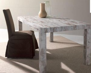 WHITE LABEL - table repas extensible fusion vintage - Table Bureau