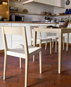 Calligaris - table repas la locanda 140x70 en hêtre de calligar - Table De Repas Rectangulaire