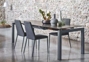 Calligaris - table repas extensible airport 130x90 en céramique - Table De Repas Rectangulaire