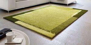 WHITE LABEL - samoa design tapis patchwork vert - 160x230 cm - Tapis Contemporain