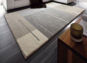 WHITE LABEL - samoa design tapis patchwork gris taupe 240x300 c - Tapis Contemporain