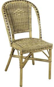Aubry-Gaspard - chaise en manau et moelle de rotin - Chaise De Jardin