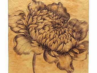Interior's - tableau en kraft fleur - Tableau Décoratif