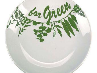 Interior's - assiette plate green - Assiette Plate