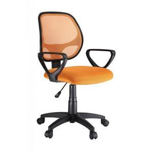 WHITE LABEL - chaise fauteuil de bureau orange - Fauteuil De Bureau
