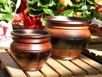 Les Poteries Clair de Terre - citrouille - Pot De Jardin