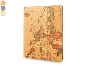 WHITE LABEL - etui ipad 1/2/3 map monde gris pochette etui houss - Housse Ipad