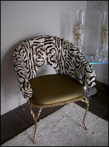 Mathi Design - fauteuil baroque bronze - Fauteuil