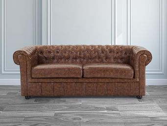 BELIANI - sofa chesterfield old style - Canapé Chesterfield