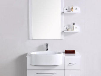 UsiRama.com - meuble salle de bain swan (rangement 90cm) - Meuble De Salle De Bains