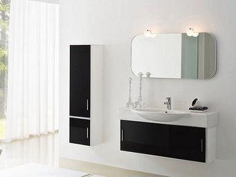 UsiRama.com - meuble design salle de bain 1m avec colonne 140cm - Meuble Vasque