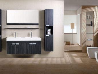 UsiRama.com - double meubles salle de bain design illusion - Meuble Double Vasque