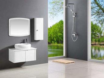 UsiRama.com - meuble salle de bain pas cher cercle 80cm - Meuble De Salle De Bains