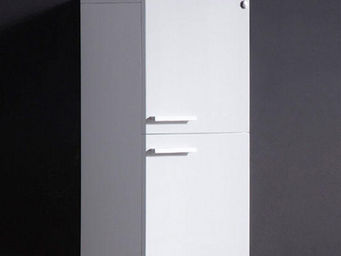 UsiRama.com - colonne de salle de bain suspendue 70cm blanc - Meuble De Salle De Bains