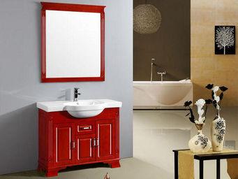 UsiRama.com - meuble salle de bain 1 vasque roige-2 1m - Meuble De Salle De Bains